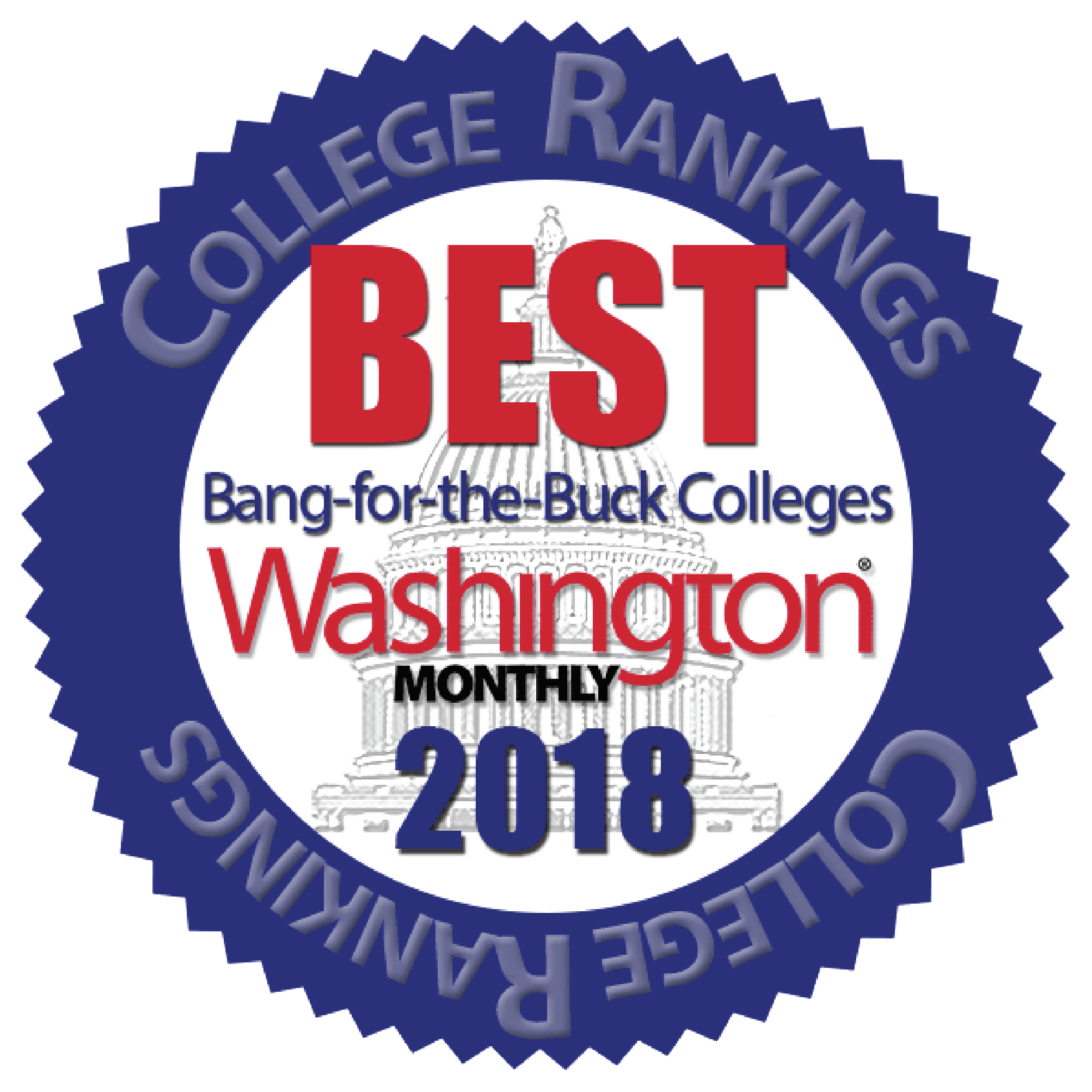 Named one of the 2018 Best Bang for the Buck Colleges for being an affordable college online