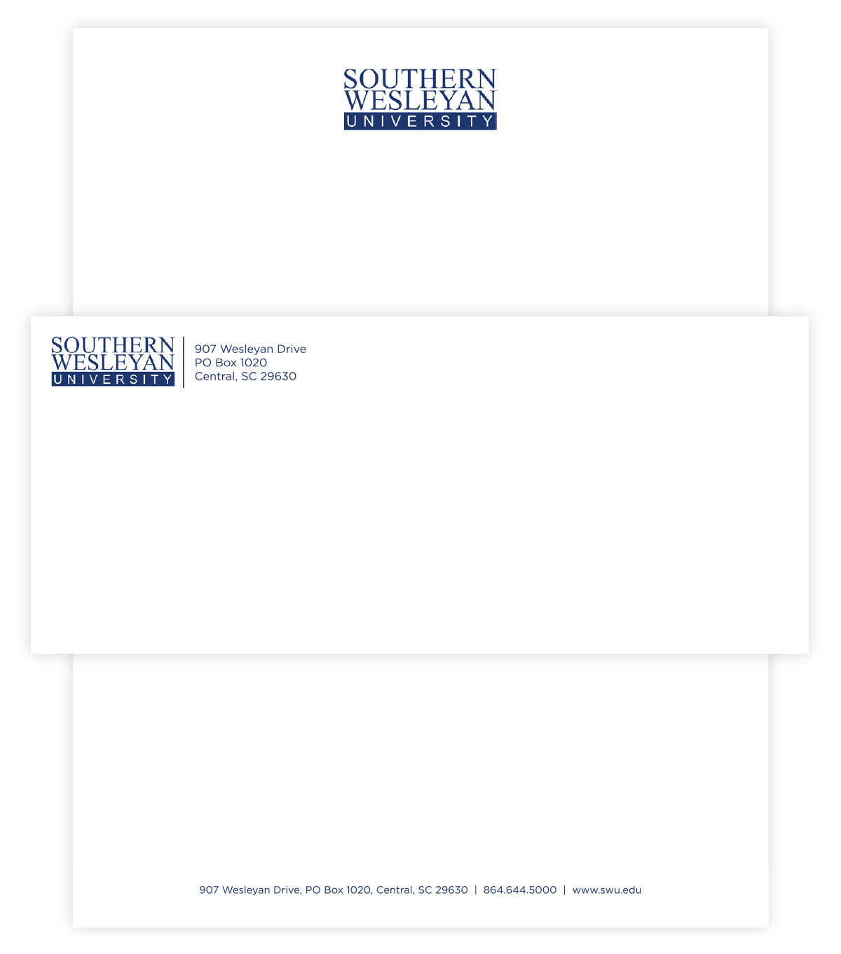 SWU letterhead and envelope example