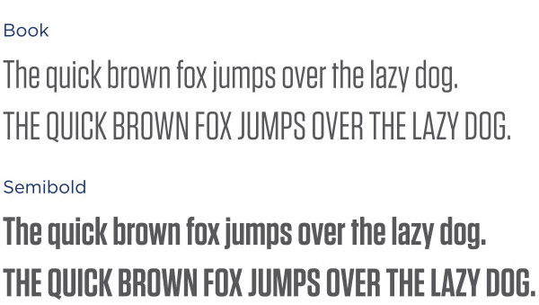 Tungsten font example