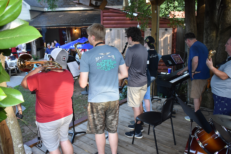 Summer Jazz Camp participants get special performance opportunities to apply what they learned.