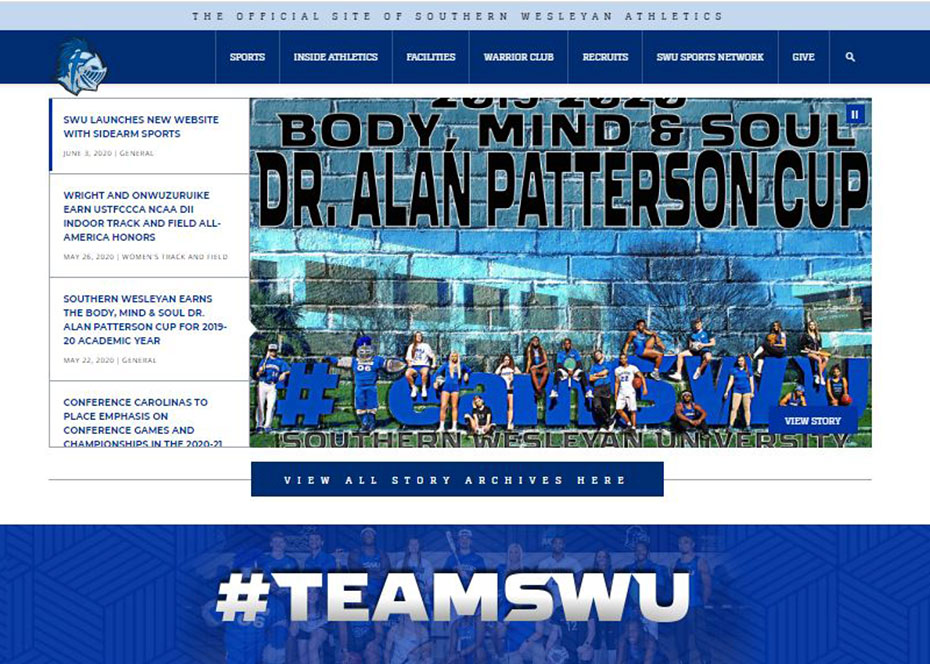 SWU Athletics launches new website
