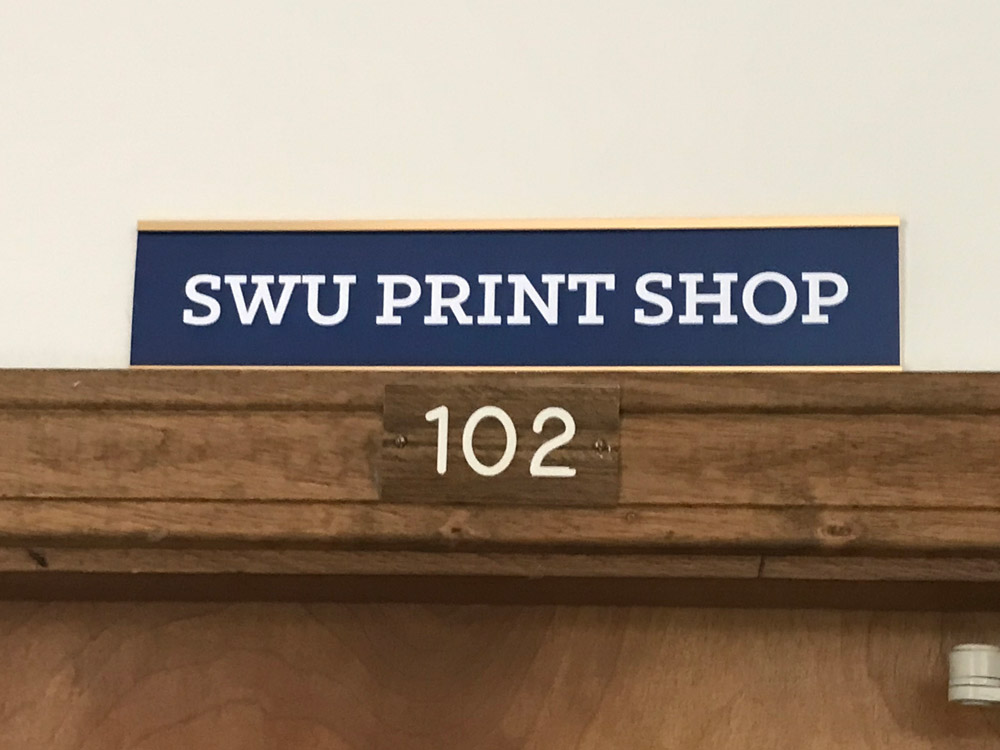 Nameplate for print shop