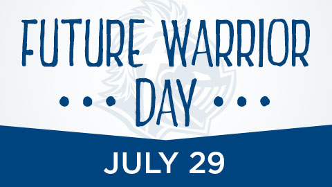 New students can register for the fall semester at Future Warrior Day July 29