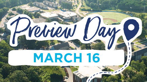 Visit campus on March 16 Preview Day for an immersive Christian college experience.